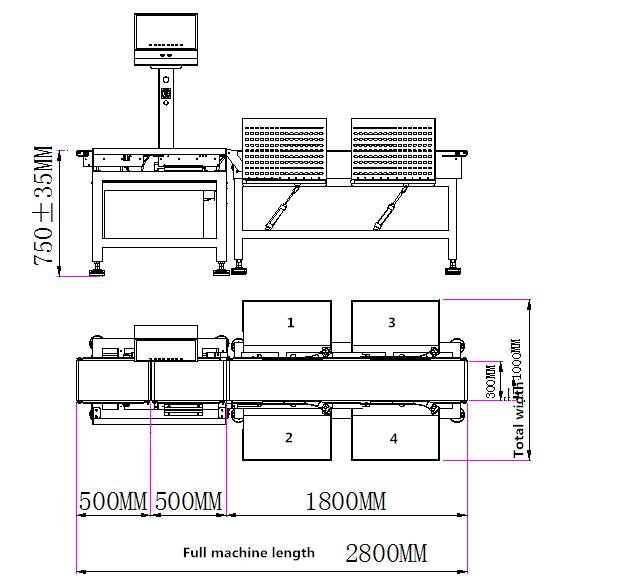 VC-M4 4grade Weight Sorting Machine