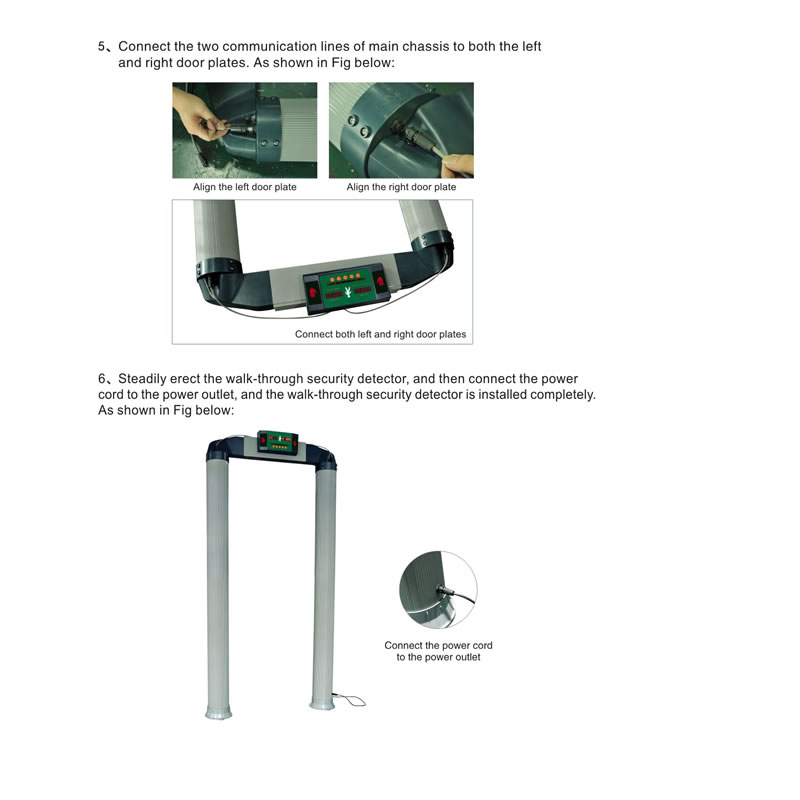 VW-6000 Cylindrical Wall Through Metal Detector