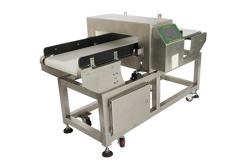 Touch screen digital belt conveyor metal detector