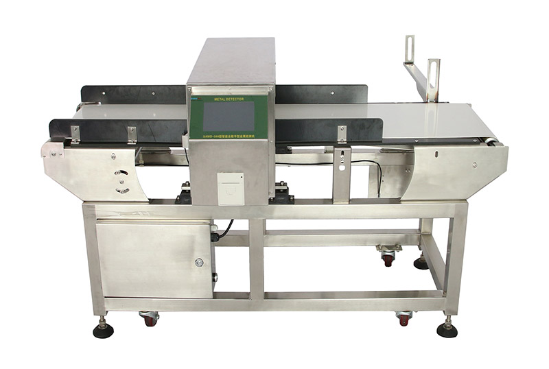 Touch screen digital belt conveyor metal detector