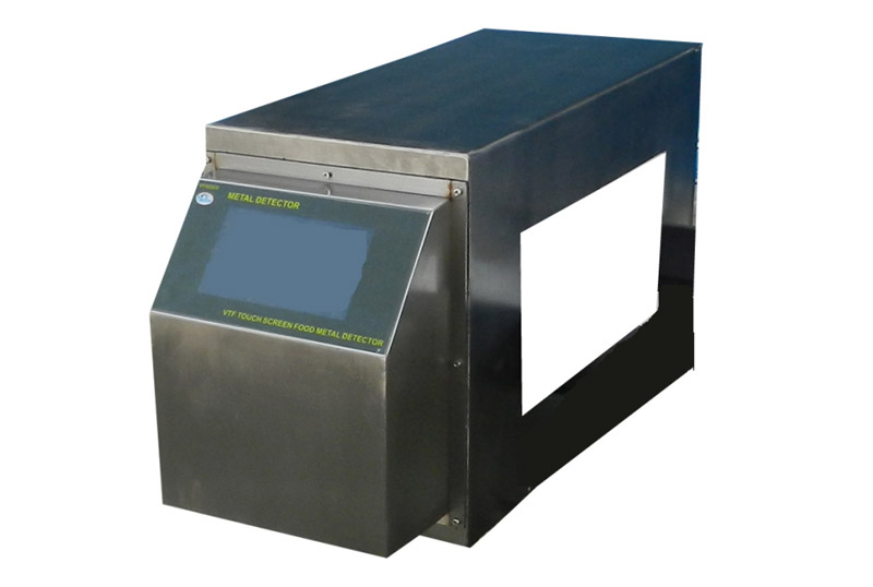 Food detection tunnel metal detector head